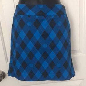 LoudMouth  Wood Worth Argyle Golf Skort Skirt